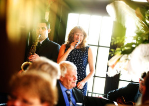 Performing with my quartet for Chris and Brian's wedding at the Hotel Baker in St. Charles, IL