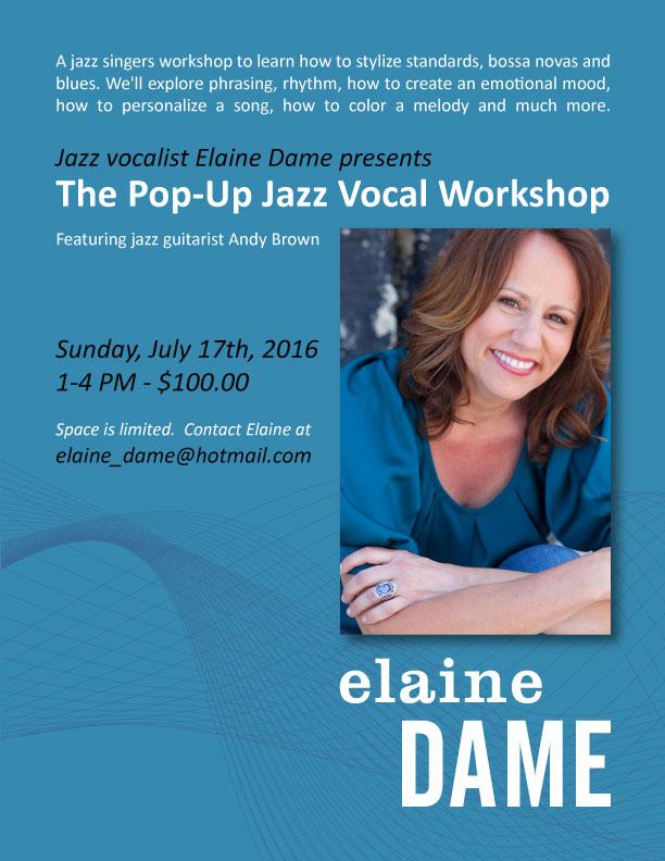 Pop up Vocal Jazz WorkshopElaine Dame